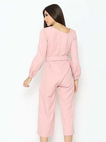 Lucky Charm Side Cut Neck Jumpsuit