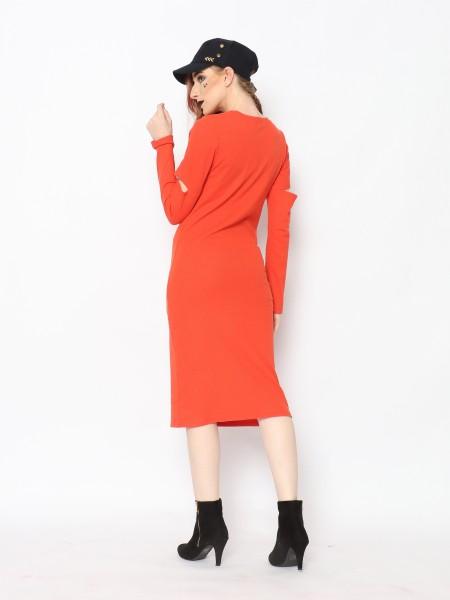 TM COLD ELBOW MAXI DRESS