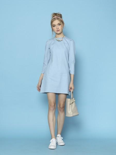 Denim Washed Mini Dress
