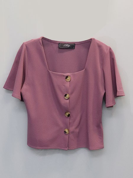 Cottage Core Bell Sleeves Crop Shirt