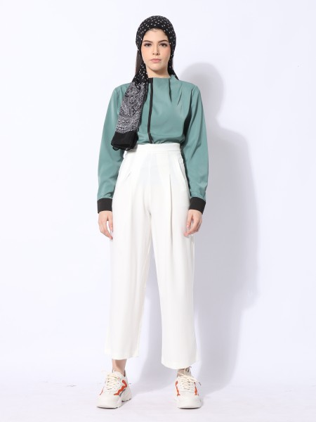 Ramadhan Moon High Neck Outline Top