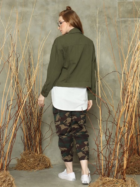 Double front pockets jacket