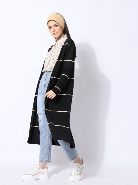 Ramadhan Moon Knitted Long Outer Line