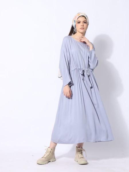 Waist Drawstring Maxi Dress