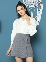 Cottage Core Embroiderend Collar Puff Sleeves Shirts