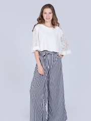 Wide Stripes Long Pants