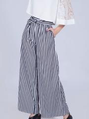 Wide Stripes Long Pants