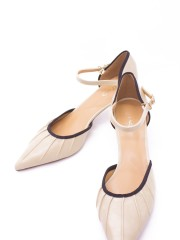 Mary Jane Ankle Strap Pointy Pumps