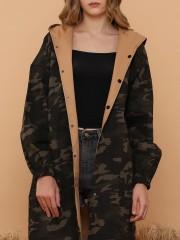 2 Way Wear Long Army Jacket