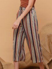 Aztec Printed Pants With Belt