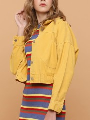 Candy Color Denim Jacket