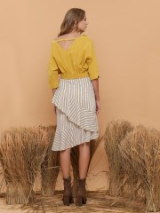 Layered Stripe Skirt