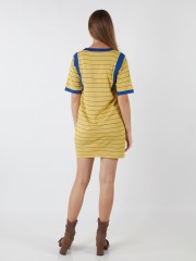 Round Neck Knitted Stripes Dress