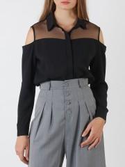 Drop-Sleeves Long Sleeveless Shirt