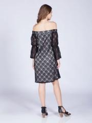 Off-Shoulder Laces Dress