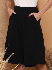 Pockets Knee-Length Culottes