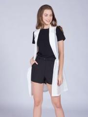 Mesh Long Sheer Vest