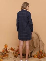 Checkered Lisle Shirt Dress
