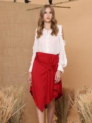 Twisted Asymmetric Skirt