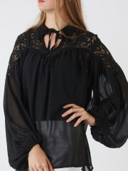 Oversized Upper-Brocade Top