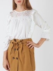Embroidered Side Ranched Top