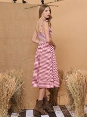 Plaid Farmer Dress