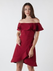 Ruffle Layered Off-Shoulder Dress