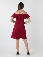 Ruffle Layered Off-Shoulder Dress