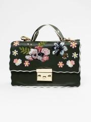 Coloured Outline Embroidered Sling Bag