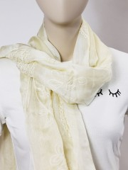 Embroidery Silky Shawl
