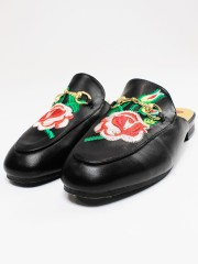 Flower Embroidery Mules