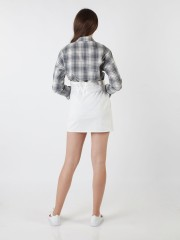 Long Sleeveles Checkered Shirt
