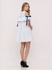 Cold Shoulder Ribbon Dress