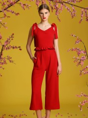 2-Pieces Set Shoulder Tie Top And Long Pants