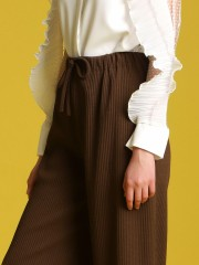 Waist-Tie Textured Cullotes