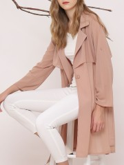 Waist-Tie Long Coat