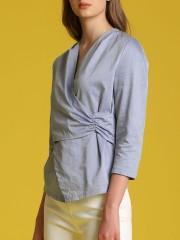 Wrap Detail Long Sleeveles Top