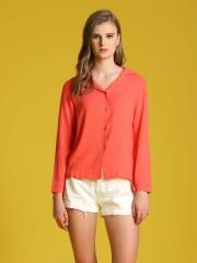 Flat Collar Long Sleeveles Shirt