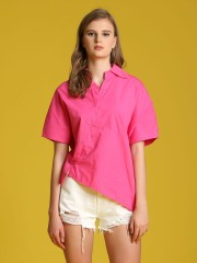 Asymetric Button-Up Oversized Shirt