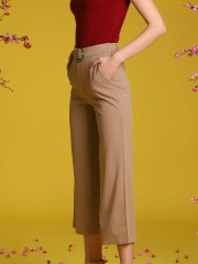 Belted Long Pants