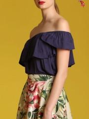 2 Pieces Flower Print Skirt