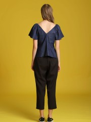 High-Waited Tapered Pants
