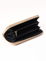 Laser-Cut Zipper Long Wallet