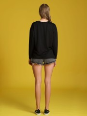 Unfinished Bottom Pocket Detail Denim Shorts