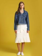 Ruffled Midi Skirt