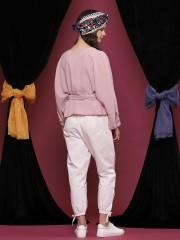 Waist-Tie Long Sleeveless Top