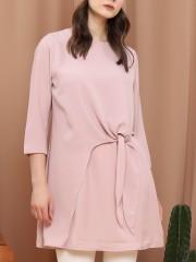 Asymetric Side-Tie Long Sleeveless Long-Back Dress