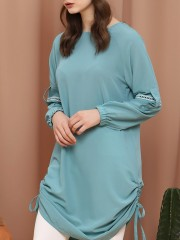 D-SL Side Drawstring Dress