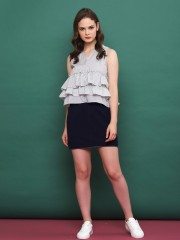 A-SL Layered Ruffles Top