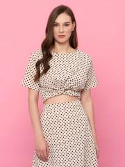 2Pcs Dotty Crop W/Skirt